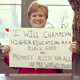 I will champion higher education as a public good...